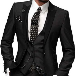 wearing a vest