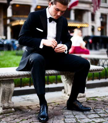tuxedo and boots